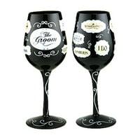 Gift Essentials 15 oz. Groom Words Wine Glass
