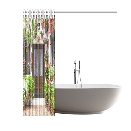 GCKG House Joy Street Shower Curtain 60x72 Inches Waterproof Polyester Fabric Bathroom Sets Home Decor - image 1 of 3
