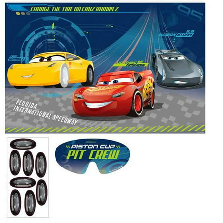 Disney Halloween Party Games (Disney 30362395 Cars 3 Party Game - Stickers &)