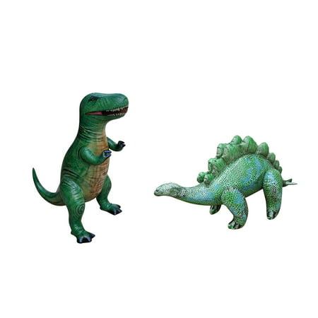 Inflatable Tyrannosaurus T-Rex Stegosaurus Dinosaur Jurassic Toy Party Gift Kids (TYR3+STE2) (Dinosaur Inflatables)