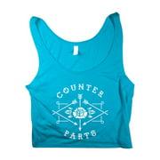 Counterparts  Arrow Logo Blue Crop Top Girls Jr Blue