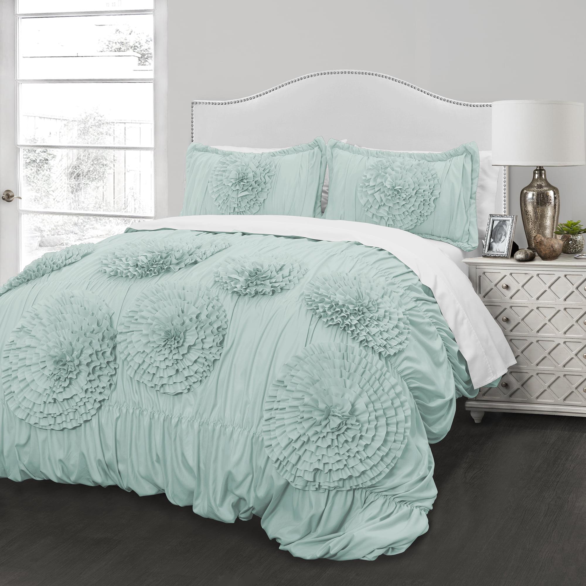 Ruffled Flowers Comforter Set by Better Homes & Gardens
