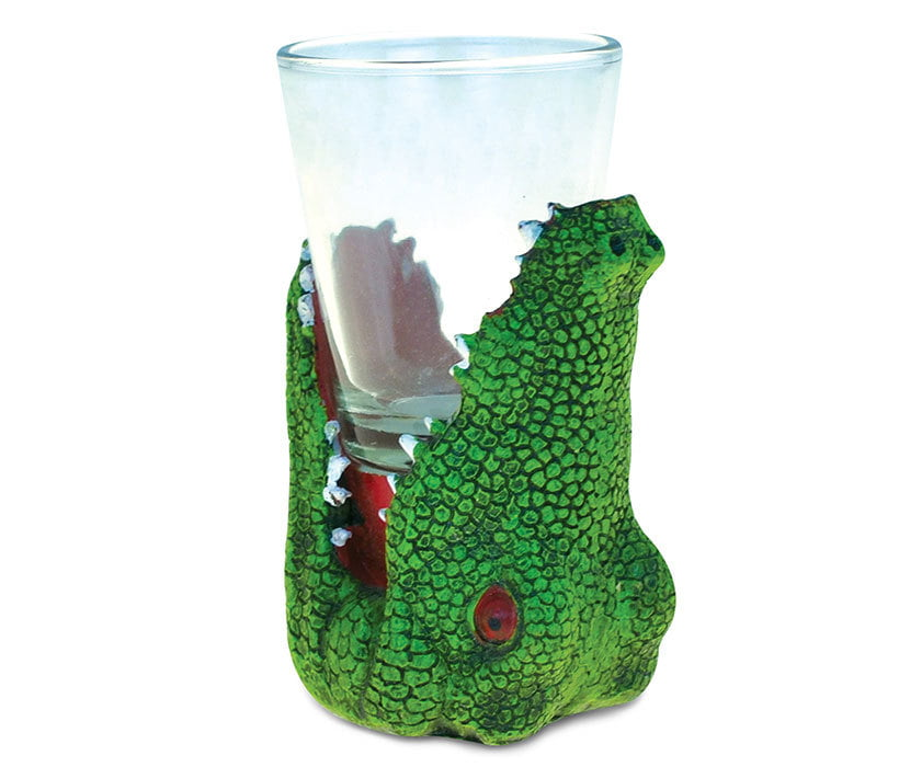 Cool Animal Head Shot Glass Alligator by Puzzled, Inc.
