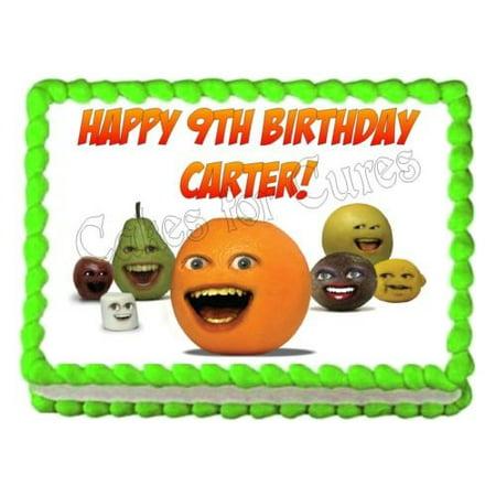 ANNOYING ORANGE Edible Party Cake Decoration Topper Cake Image Sheet