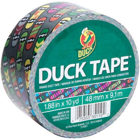 Printed Duck Tape Brand Duct Tape - Skateboard, 1.88 in. x 10 yd.
