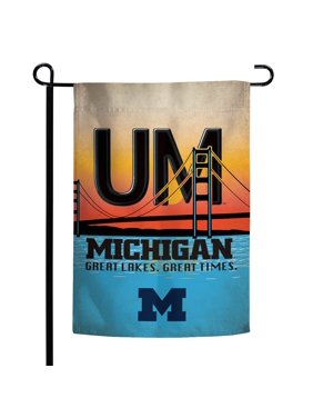 """Michigan Wolverines WinCraft Michigan State License Plate Two-Sided 12"""" x 18"""" Garden Flag"""
