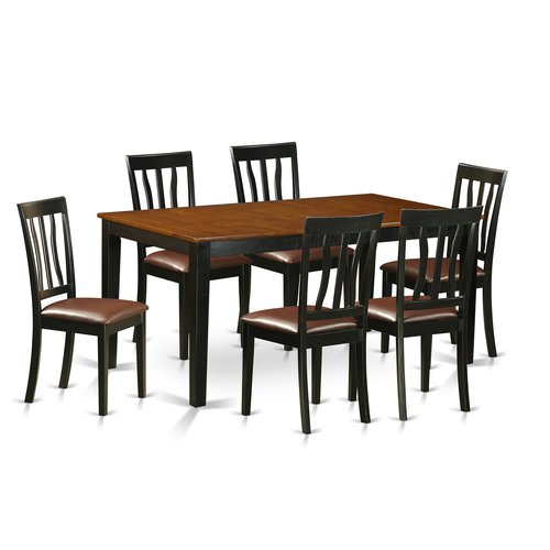 East West Furniture 7 Piece Extendable Dining Set