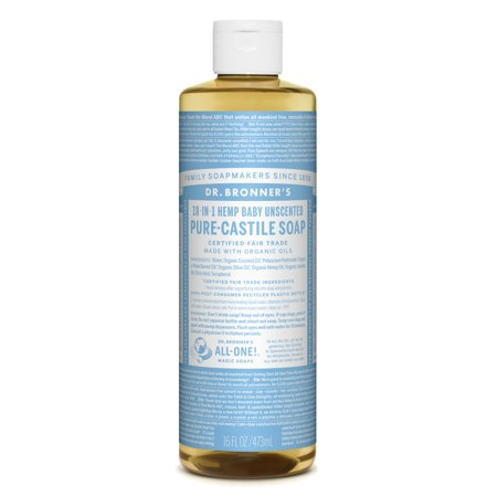 Dr. Bronner's Baby-Unscented Pure-Castile Liquid Soap - 16 oz