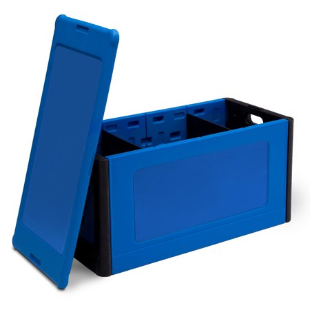 Delta Children Store and Organize Toy Box, Blue - Chest Box
