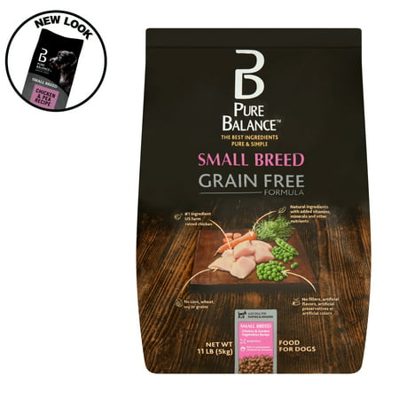 Pure Balance Small Breed Grain Free Formula Chicken & Garden Vegetables Recipe Food for Dogs, 11 lb