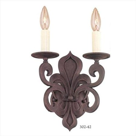 World Imports 2-Light Rustic Wall Sconce (Fixture World Imports)
