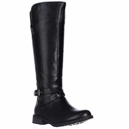 c463e8101aac Guess - Womens G Guess Halsey Wide-Calf Riding Boots - Black - Walmart.com