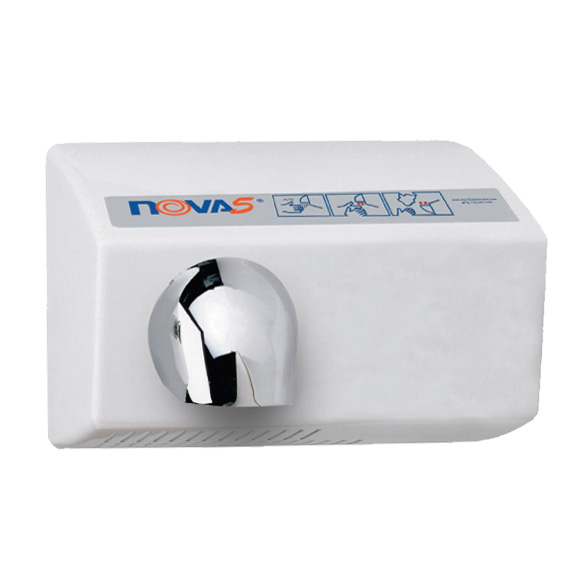 Nova 5 0212 Automatic, Heavy Duty Hand Dryer, White Cast Aluminum, 110-120V