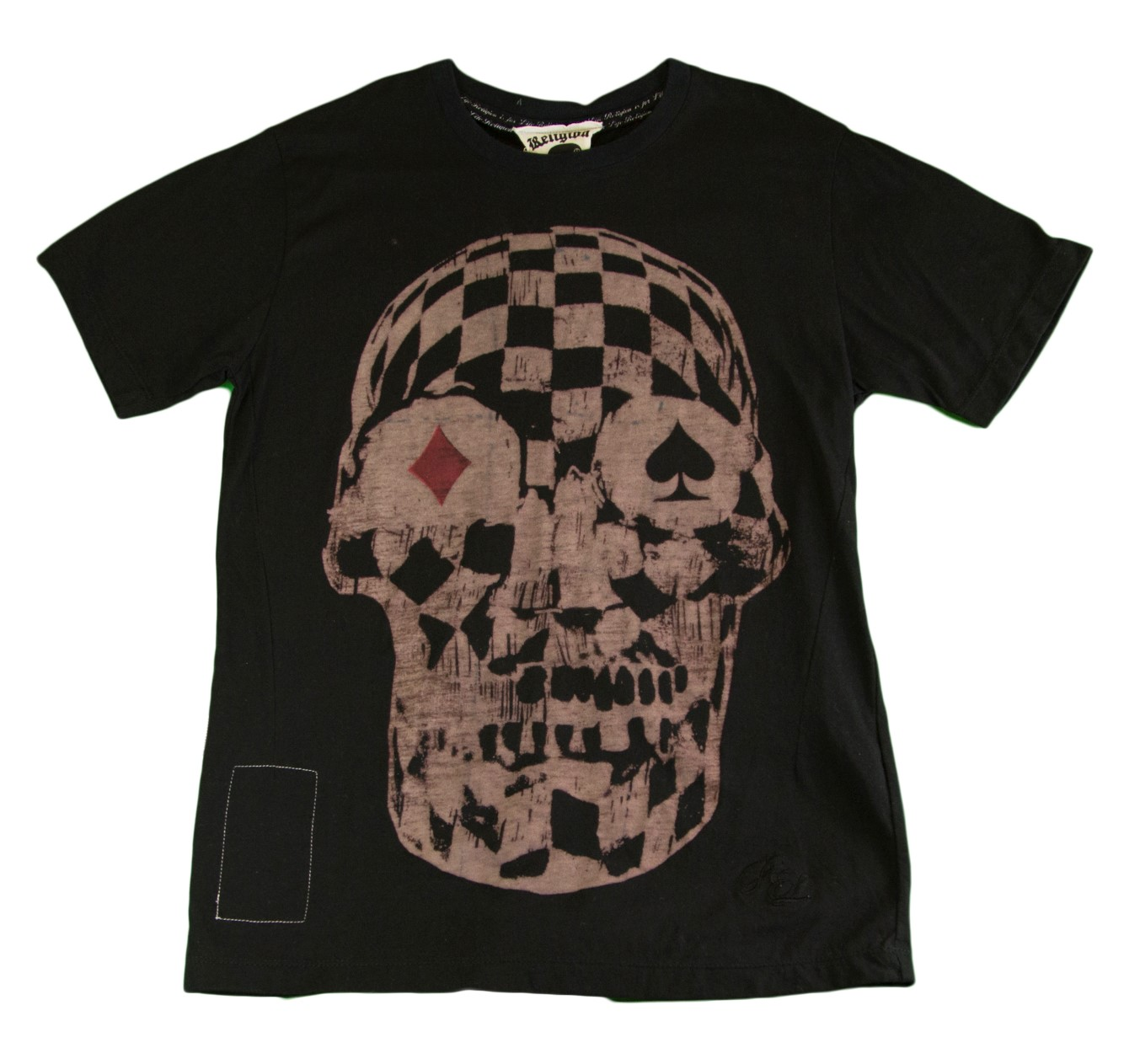 Religion Boy's Skull Printed Short Sleeve Shirt