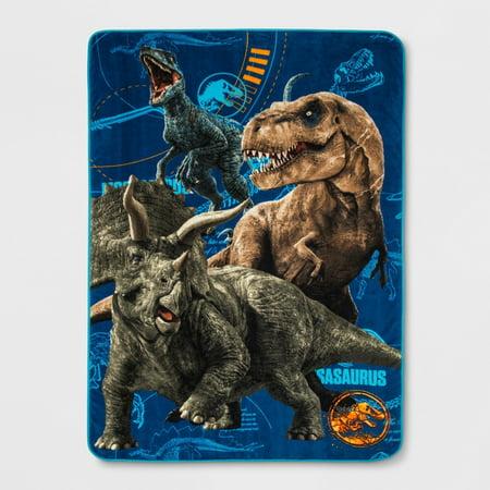 Jurassic World  2 Jurassic Escape Twin Dinosaur 62 x 90 Bed Blanket