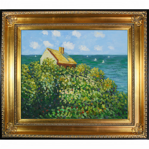 Wildon Home  Fishermans Cottage at Varengeville by Claude Monet Framed Original Painting