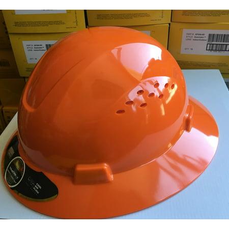 HDPE Orange Full Brim Hard Hat with Fas-trac Suspension (Child Size Hard Hat)