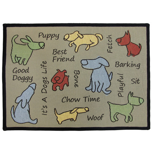 Park B Smith Ltd PB Paws & Co. Multi Dog Show Tapestry Indoor/Outdoor Area Rug