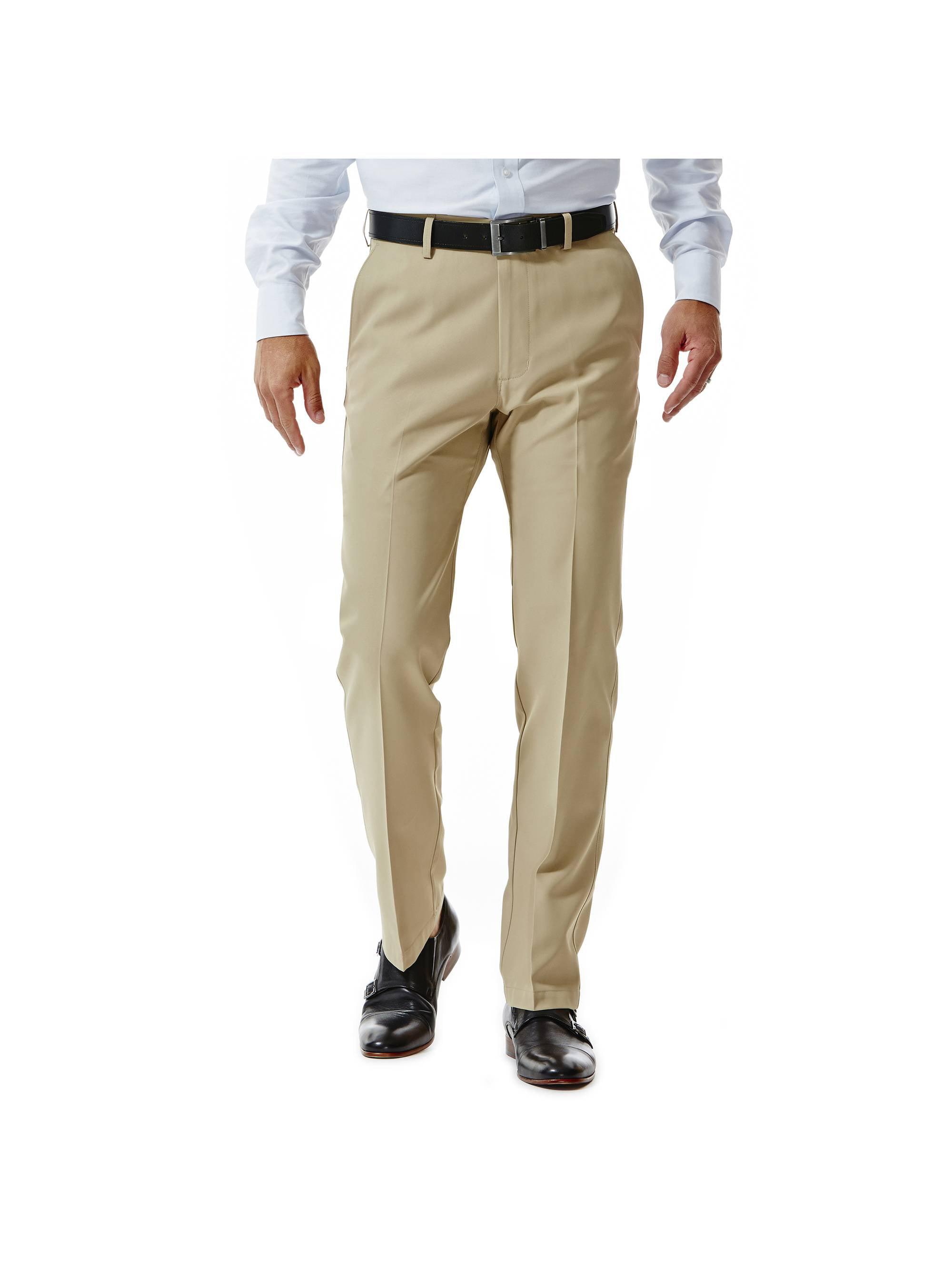 Men's Performance Microfiber Flat Front Pant Straight Fit HC10822