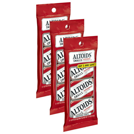 (3 Pack) Altoids, Sugar Free Smalls Peppermint Mints, 0.37 Oz, 3 Ct