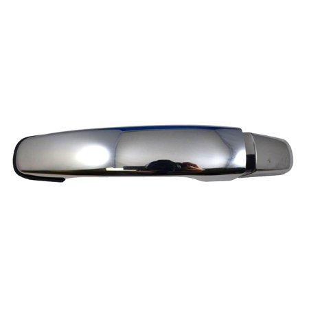 PT Auto Warehouse GM-3373M-RLK - Outer Exterior Outside Door Handle, Chrome - Driver Side Rear
