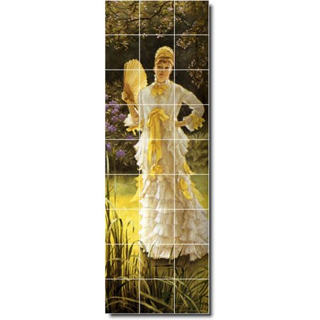 Ceramic Tile Mural James Tissot Women Painting 120 12 75 w x 38 25 h