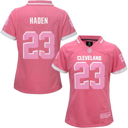 UPC 885916555994 product image for Joe Haden Cleveland Browns Girls Youth Bubble Gum Jersey - Pink | upcitemdb.com