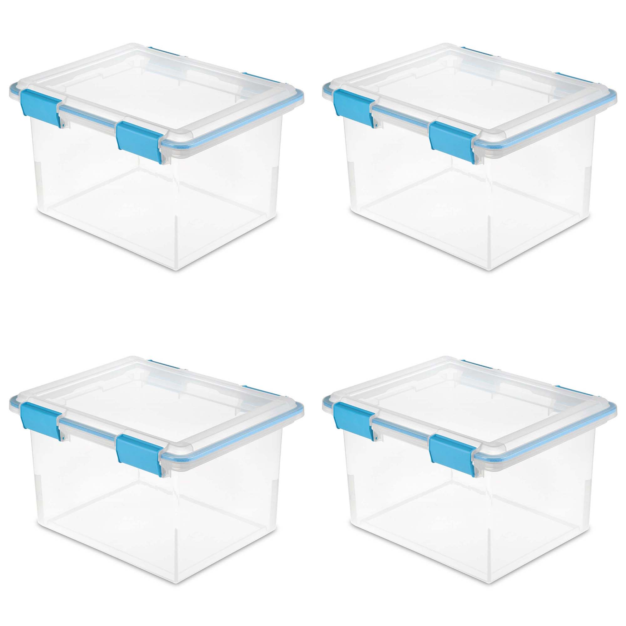 Sterilite 32 Quart Gasket Box with Clear Base and Lid (4 Pack) | 19334304