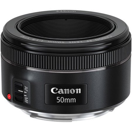 Canon EF 50mm f/1.8 STM Standard Autofocus Lens for EOS T6, T6i,T6S, SL1, 7D, 5D, 6D, (Canon Eos 550d Ef 50mm F 1-8 Ii)