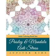 Paisley & Mandala Anti Stress : Adult Coloring Book Sets