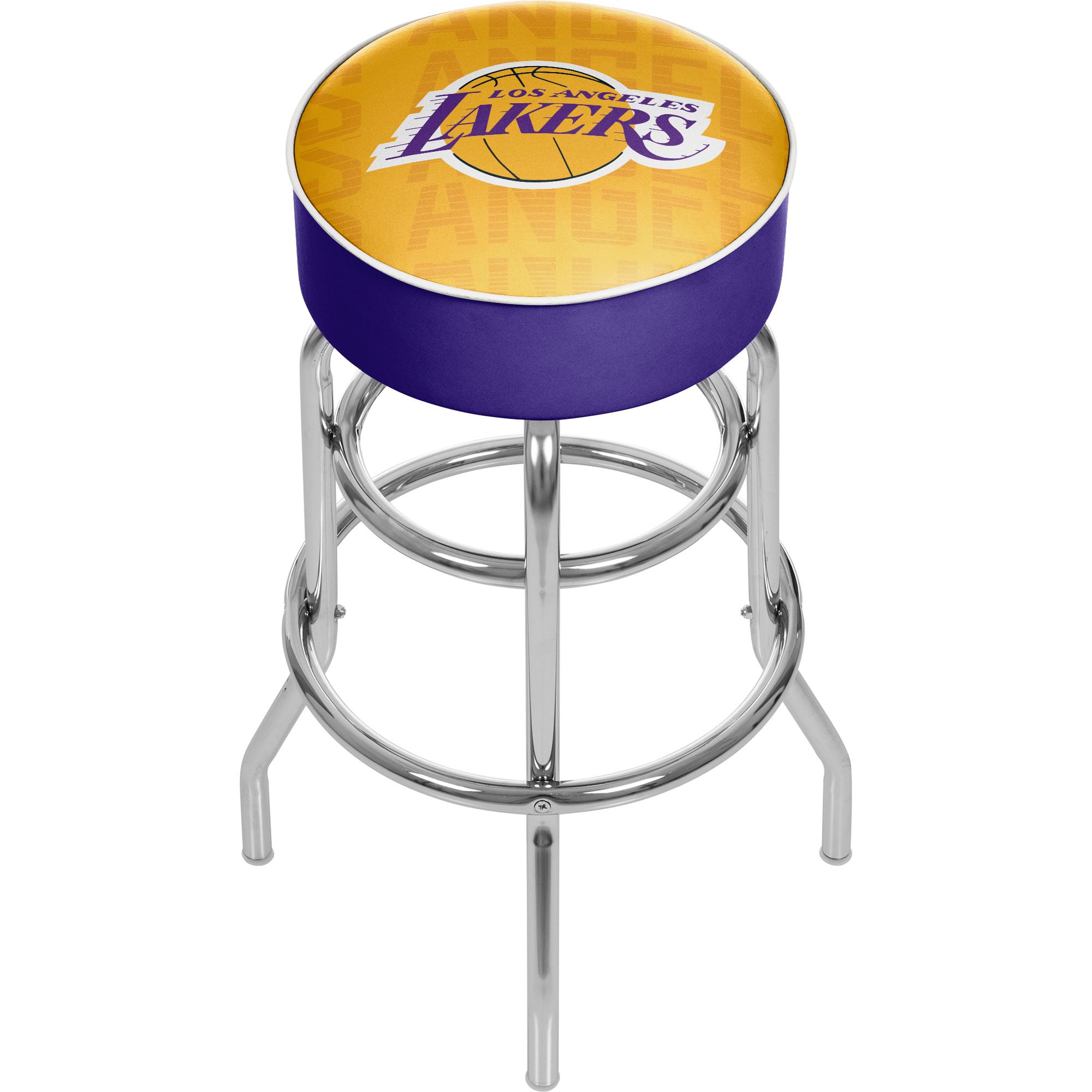NBA Padded Swivel Bar Stool - City - Los Angeles Lakers