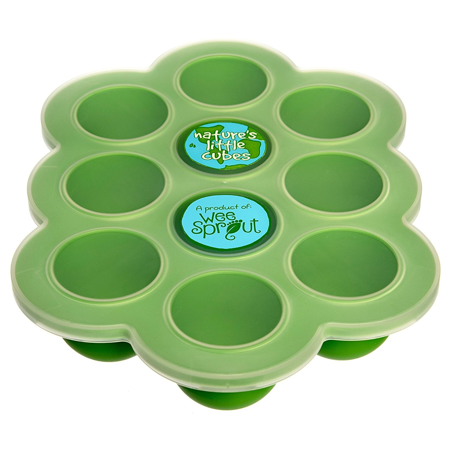 WeeSprout Baby Food Storage - Silicone Freezer Tray with Clip-on Lid
