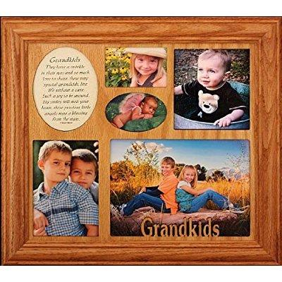 grandkids ~ photo & poetry collage frame ~ wonderful gift for a grandma, grandpa or grandparents!