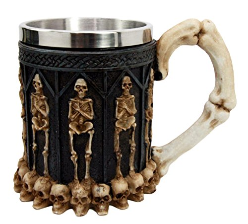 Skeleton Ossuary Graveyard Labyrinth Death Tankard Coffee Beer Mug Cup
