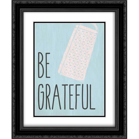 Be Grateful 2x Matted 20x24 Black Ornate Framed Art Print by Allen, Kimberly