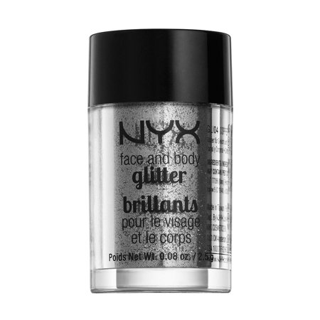 NYX Professional Makeup Face & Body Glitter Silver - 0.08oz