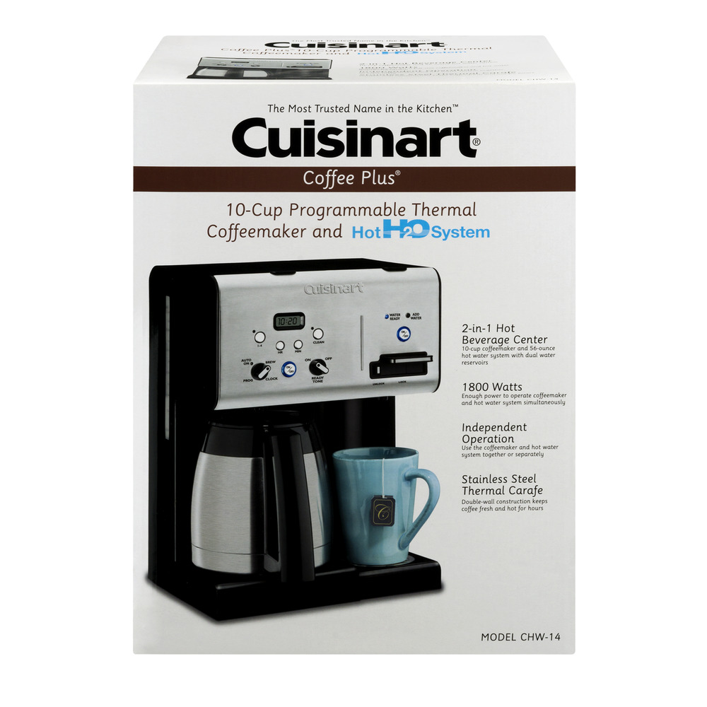 Cuisinart Coffee Plus 10-Cup Thermal Coffeemaker and Hot Water CHW-14