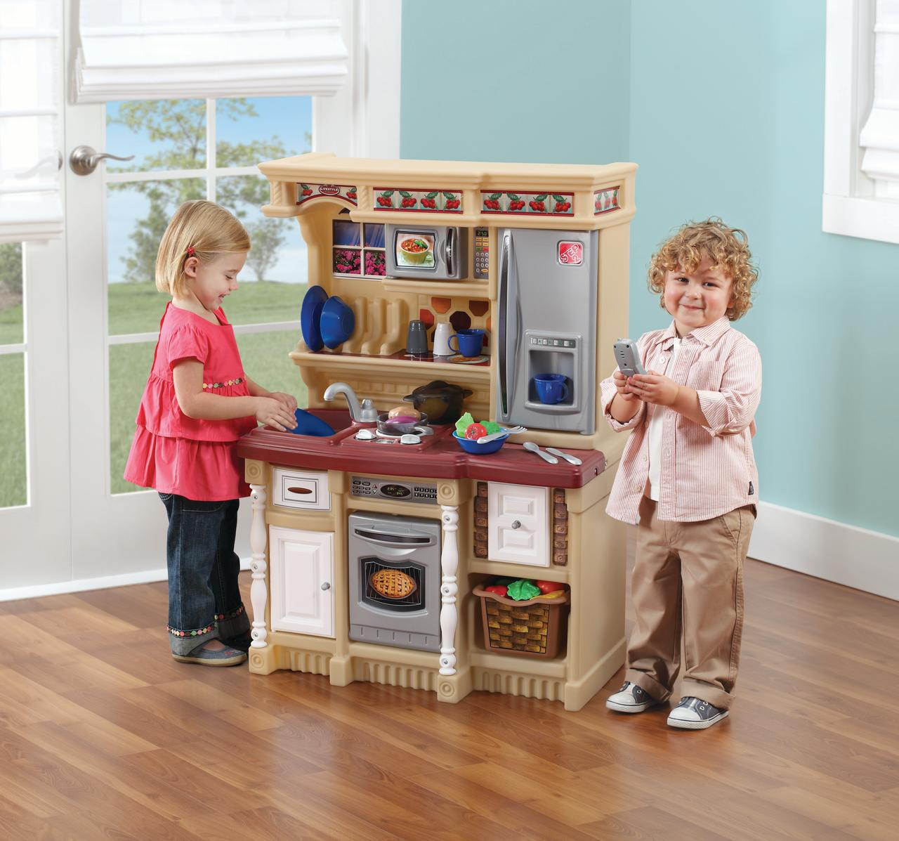 Step2 LifeStyle Custom Play Kitchen with 20 Piece Accessory Set - Tan -  Walmart.com