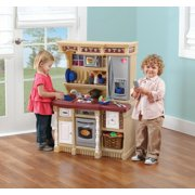 Step2 LifeStyle Custom Play Kitchen with 20 Piece Accessory Play Set - Tan