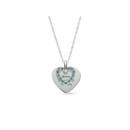 Personalized Family Jewelry Women's Love's Reflection Birthstone Pendant available in Sterling Silver, 10kt and 14kt Yellow and White Gold