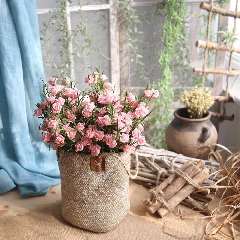 Mosunx Artificial PE Fake Flowers Rose Floral Wedding Bouquet Bridal Hydrangea Decor
