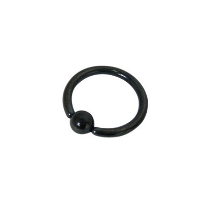 Anodized Black Titanium Captive Bead Ball Closure Ring (14 G) Blue Titanium Anodized Captive Ring