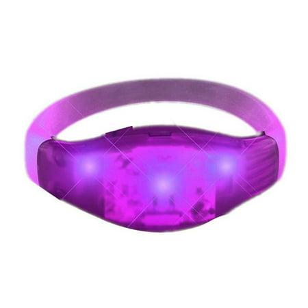 Sound Reactive Purple LED Party Bracelet - Wristbands for Concerts - Led Wrist Band