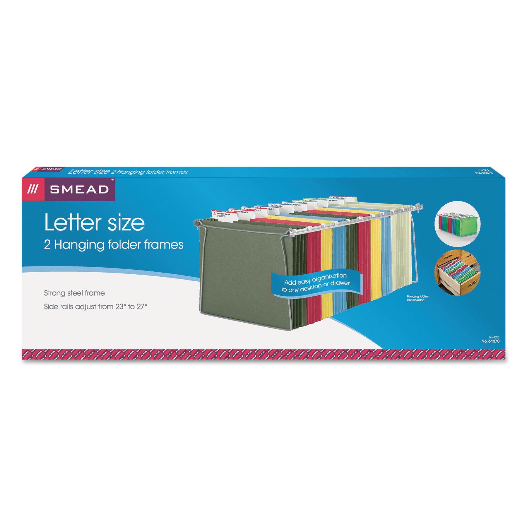 Smead Hanging File Folder Frame Steel Letter Size 2 Per Pack