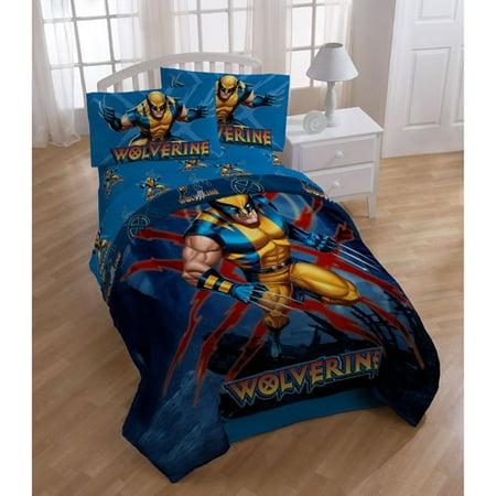 marvel x men wolverine bedding sheet set twin. Black Bedroom Furniture Sets. Home Design Ideas