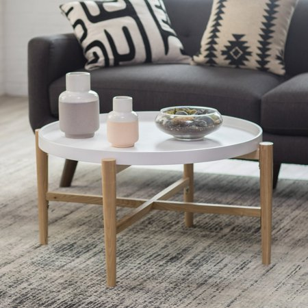 Belham Living Lincoln 2-Tone Tray Top Coffee Table - White ()