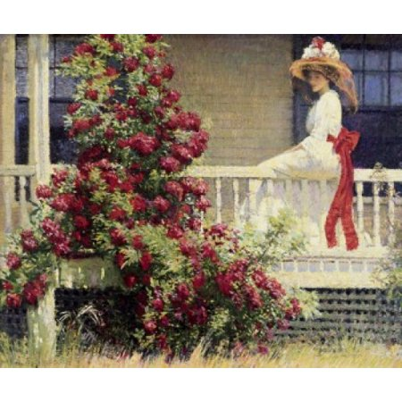 The Crimson Rambler  1908 Philip Leslie Hale  Oil On Canvas  Pennsylvania Academy Of Fine Arts Philadelphia Pa Usa Poster Print