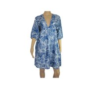 Womens 'Chris' V-Neck V Dress, Blue, Size S