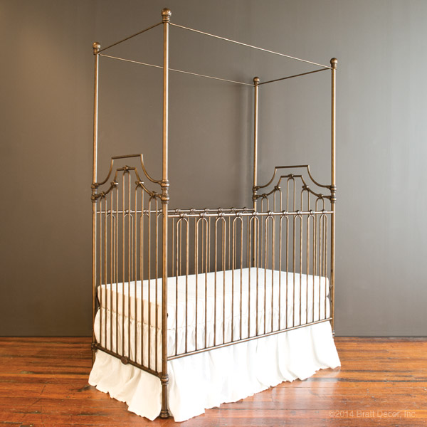 Bratt Decor Parisian 9 in 1 crib vintage gold