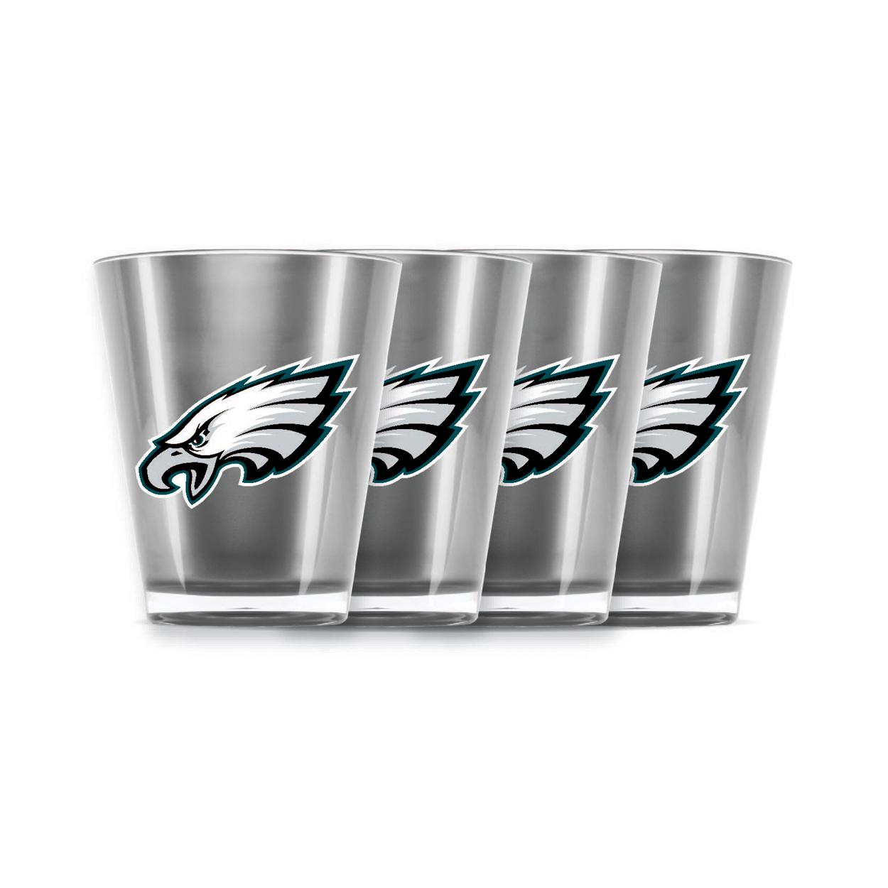 Duckhouse NFL Philadelphia Eagles 4 piece shot gla
